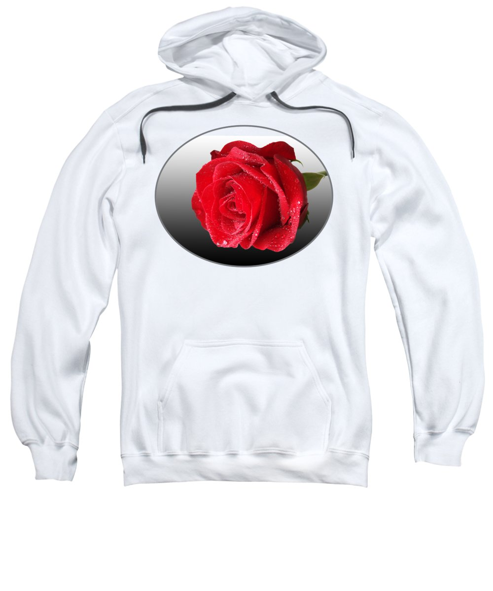 Rose Sweatshirt featuring the photograph Romantic Rose by Gill Billington