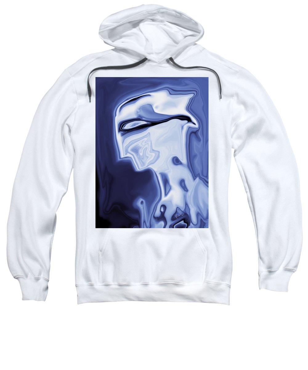 Art Sweatshirt featuring the digital art Romeo by Rabi Khan