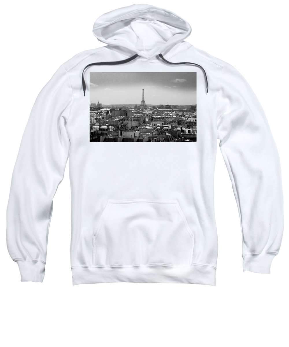 Eiffel Sweatshirt featuring the photograph Roof Of Paris. France by Bernard Jaubert