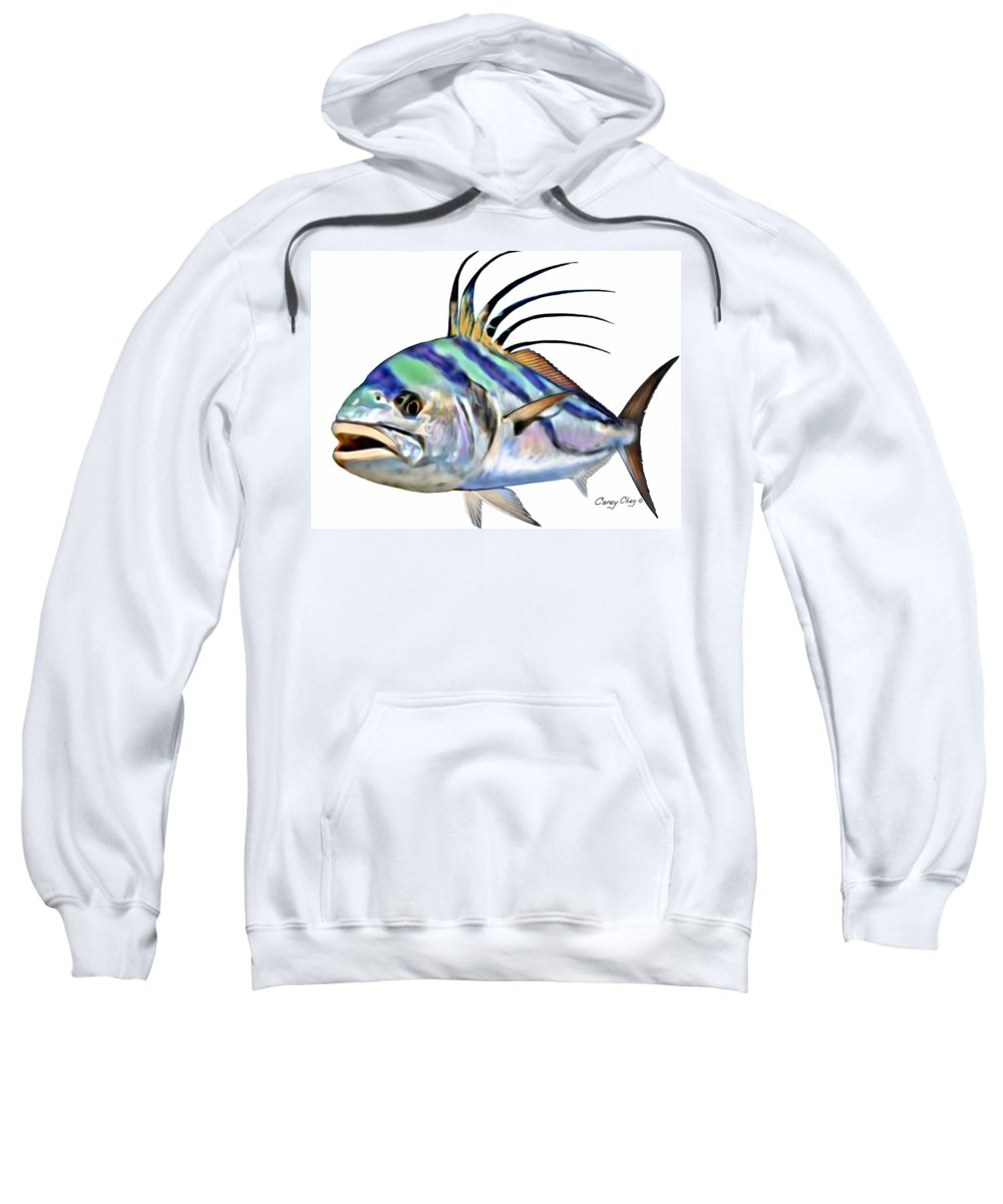 Roosterfish Sweatshirt featuring the digital art Roosterfish Digital by Carey Chen