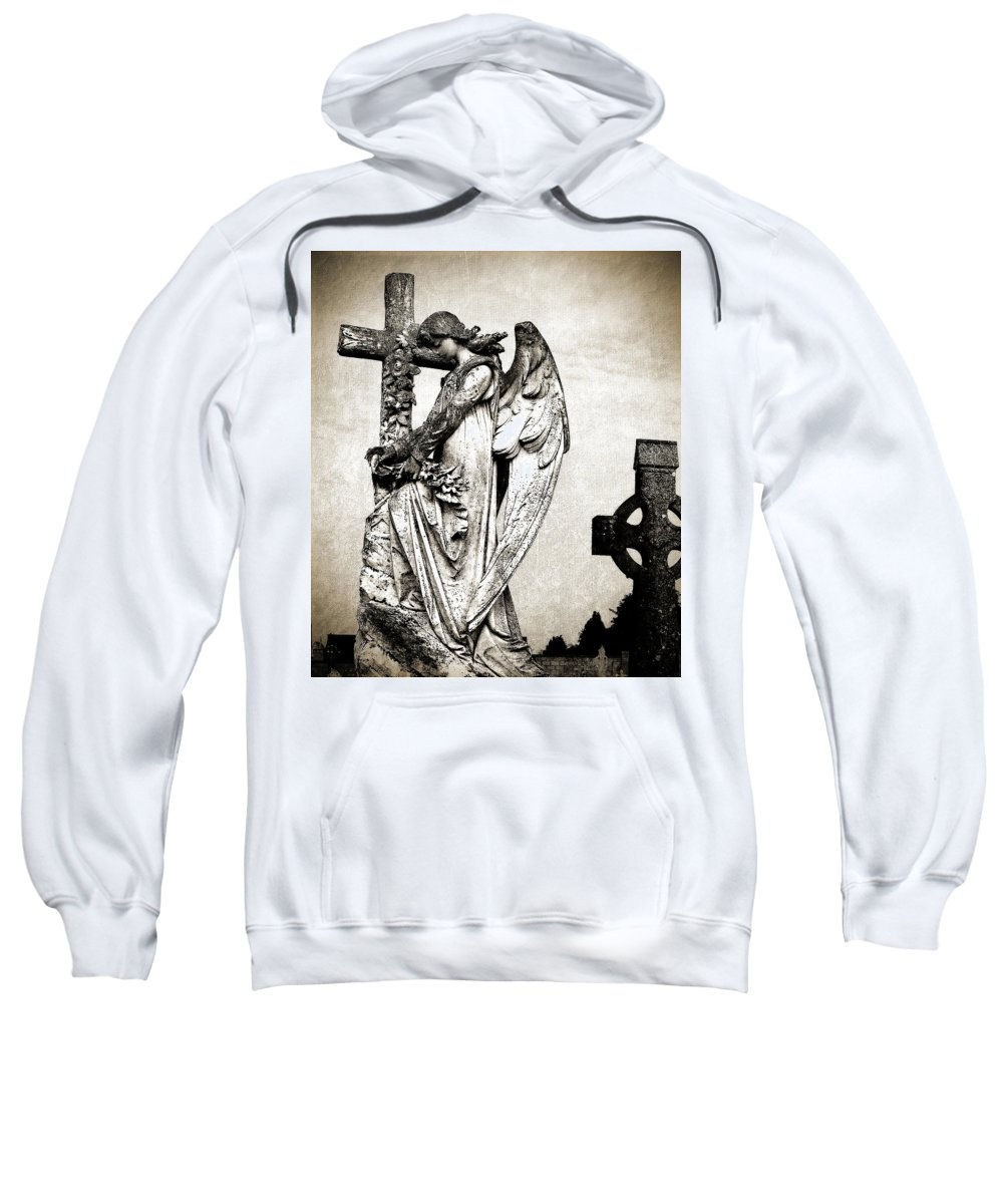 Ireland Sweatshirt featuring the photograph Roscommon Angel No 1 by Teresa Mucha