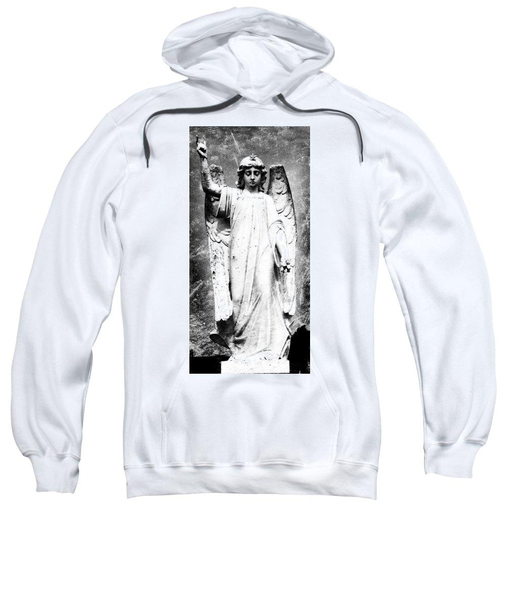 Roscommon Sweatshirt featuring the photograph Roscommon Angel No 2 by Teresa Mucha