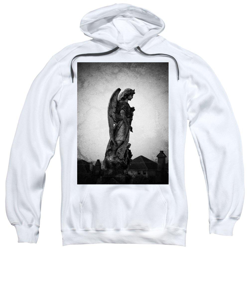 Roscommon Sweatshirt featuring the photograph Roscommonn Angel No 4 by Teresa Mucha