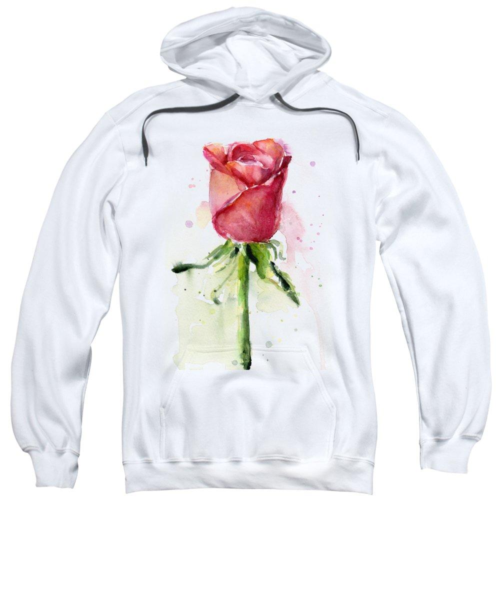 Rose Hooded Sweatshirts T-Shirts