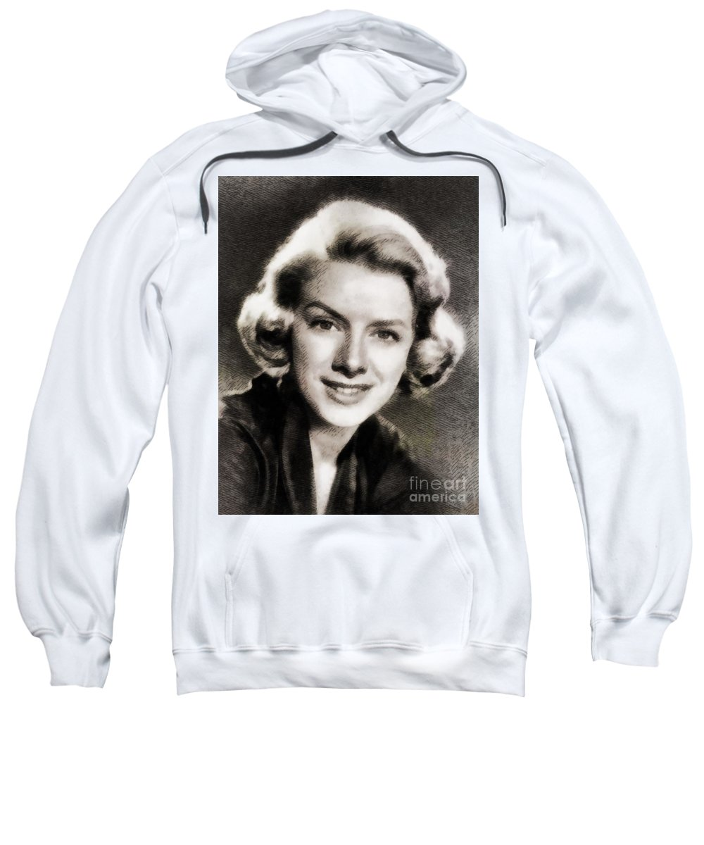 Hollywood Sweatshirt featuring the painting Rosemary Clooney, Music Legend by John Springfield