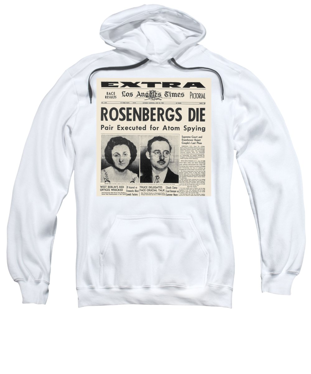 1953 Sweatshirt featuring the photograph Rosenberg Execution, 1953 by Granger