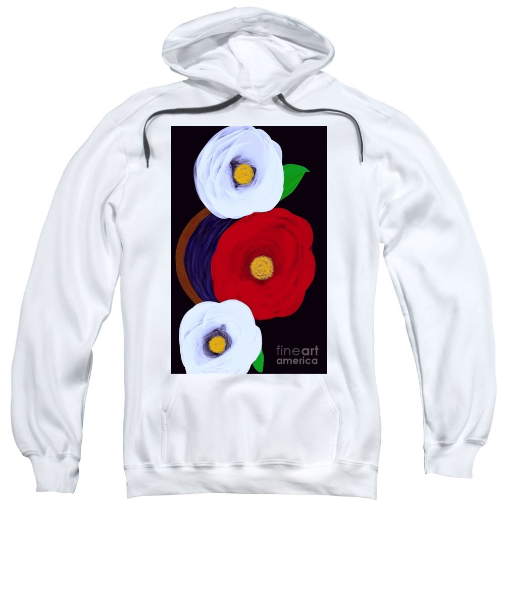 Sweatshirt featuring the digital art Roses by Vladi Donev
