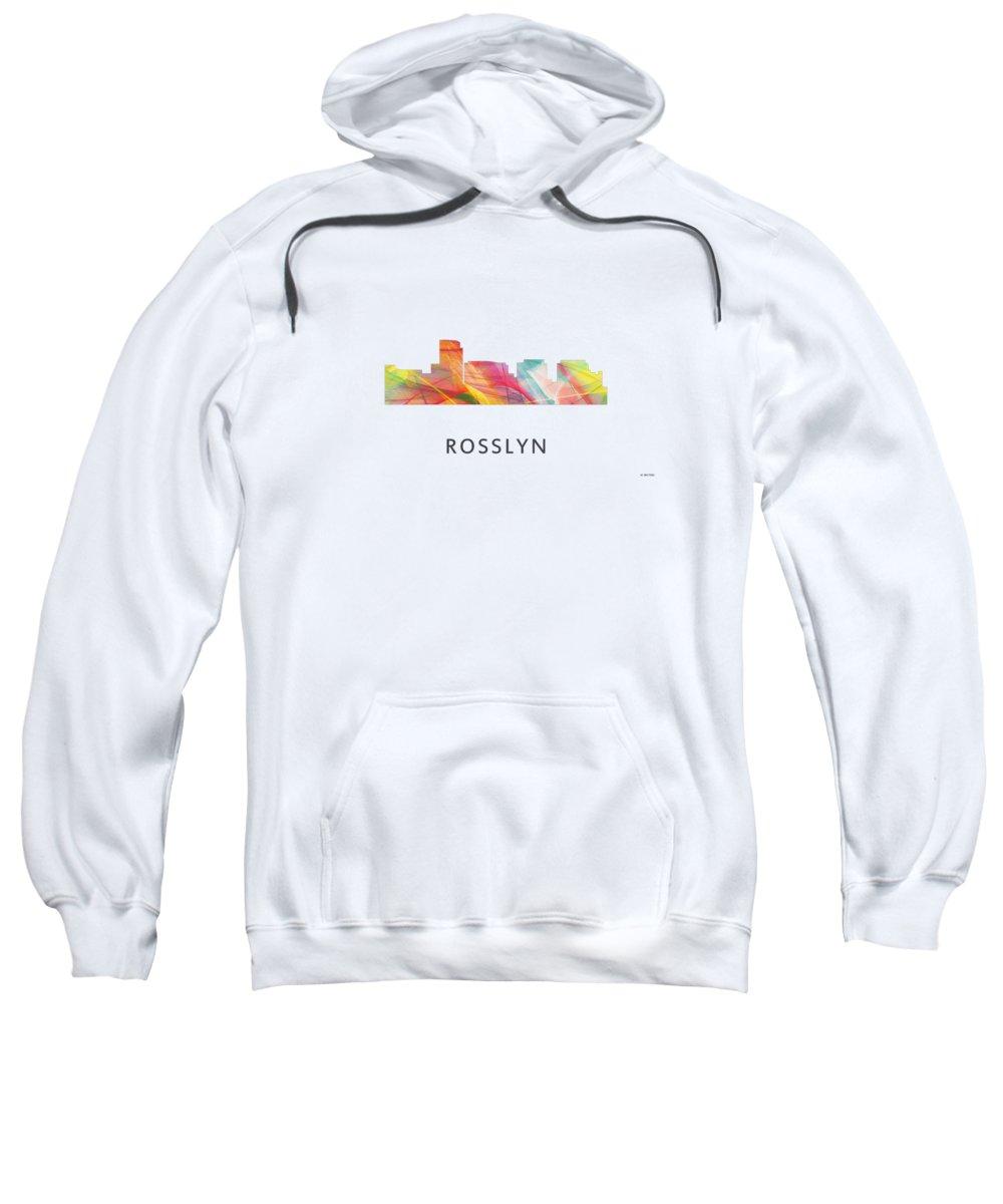 Rosslyn Virginia Skyline Sweatshirt featuring the digital art Rosslyn Virginia Skyline by Marlene Watson