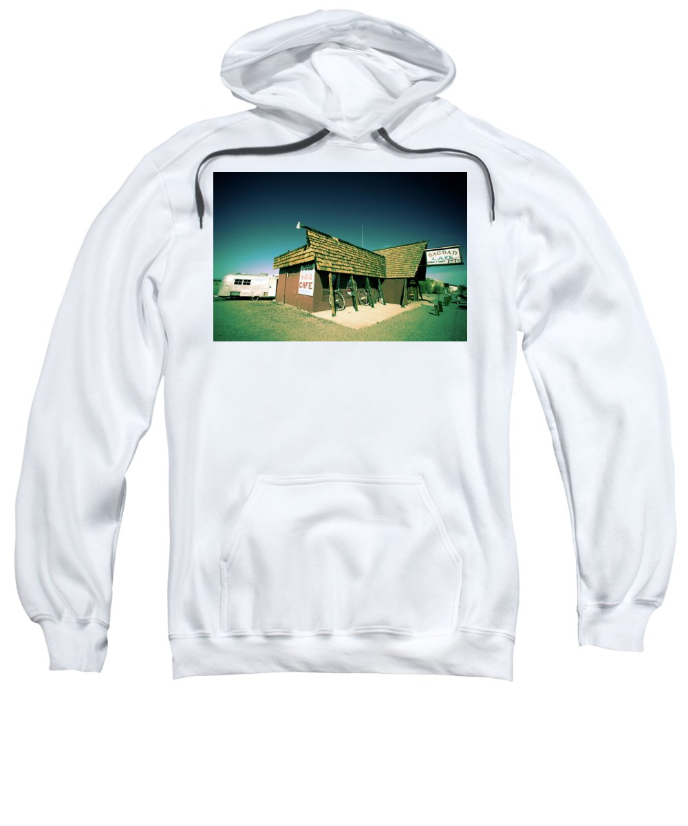 Notice Sweatshirt featuring the photograph Route 66-86 by Avril Christophe