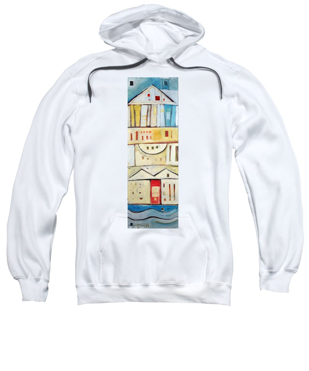 House Sweatshirt featuring the painting Rowhouse No. 1 by Tim Nyberg