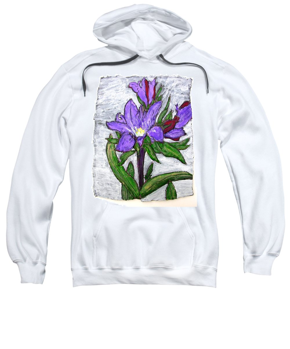 Flower Sweatshirt featuring the painting Royalty by Wayne Potrafka