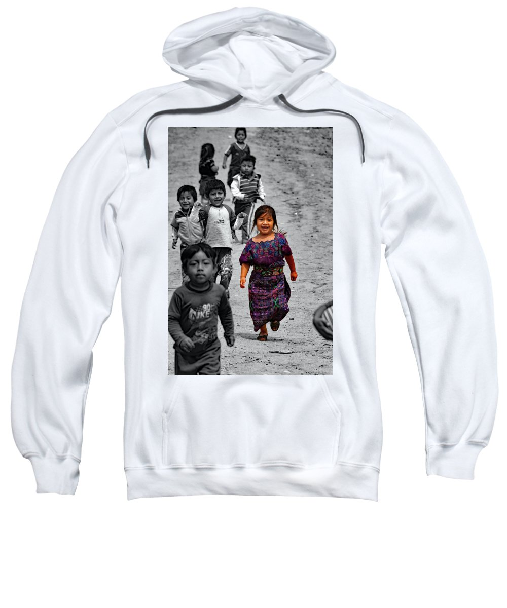 Running Sweatshirt featuring the photograph Running In Color by Norman Coleman III