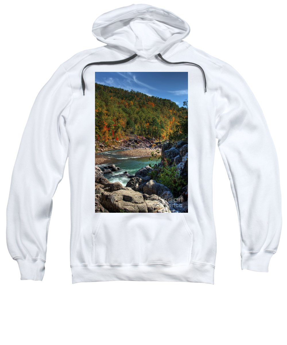 2009 Sweatshirt featuring the photograph Running Into Autumn by Larry Braun