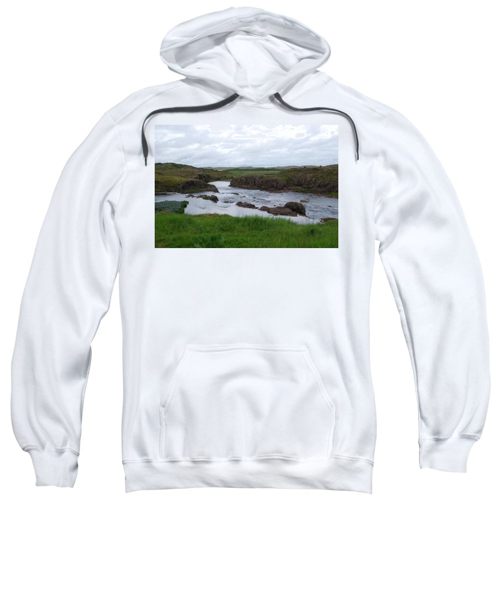 River Sweatshirt featuring the photograph Rushing River by Kristen Bird