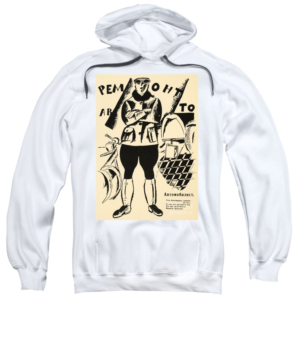 1917 Sweatshirt featuring the photograph Russia: Mechanic, 1918 by Granger
