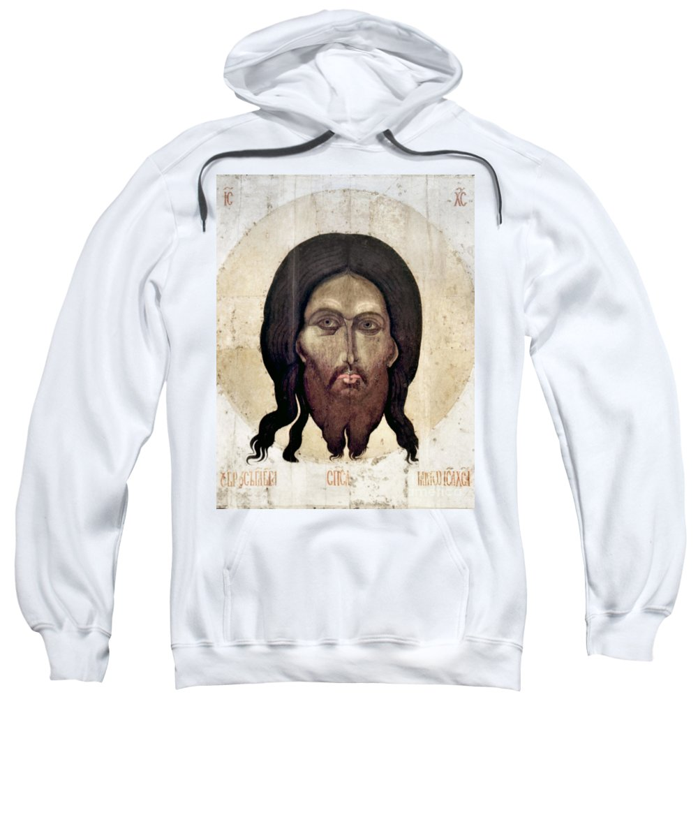 15th Century Sweatshirt featuring the photograph Russian Icon: The Savior by Granger