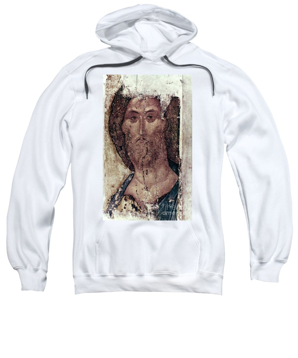 15th Century Sweatshirt featuring the photograph Russian Icons: The Saviour by Granger
