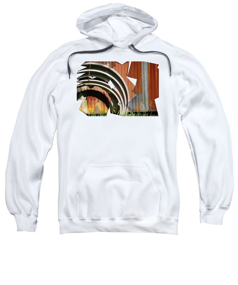 Titusville Sweatshirt featuring the photograph Rust And Our Carbon Footprint by Jay Ressler