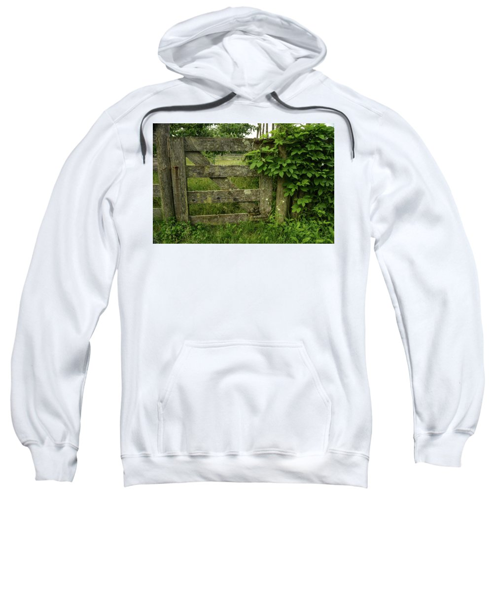 Gate Sweatshirt featuring the photograph Rustic Gate by Robert Coffey