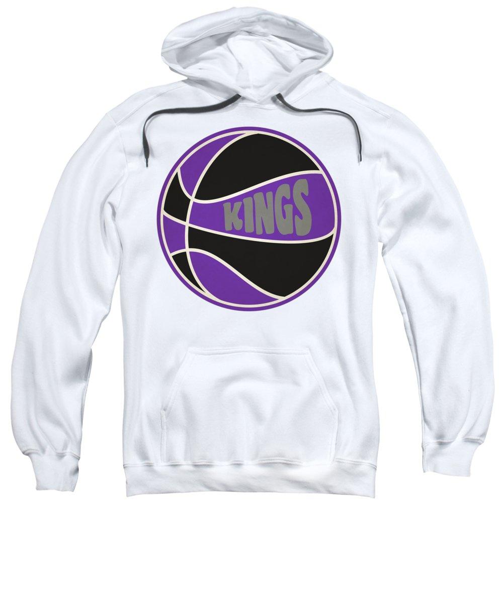 Kings Sweatshirt featuring the photograph Sacramento Kings Retro Shirt by Joe Hamilton