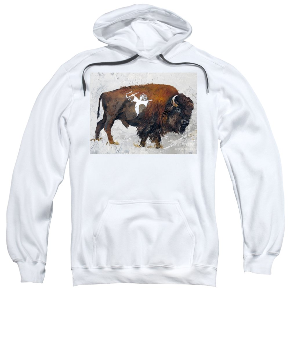 Southwest Art Sweatshirt featuring the painting Sacred Gift by J W Baker