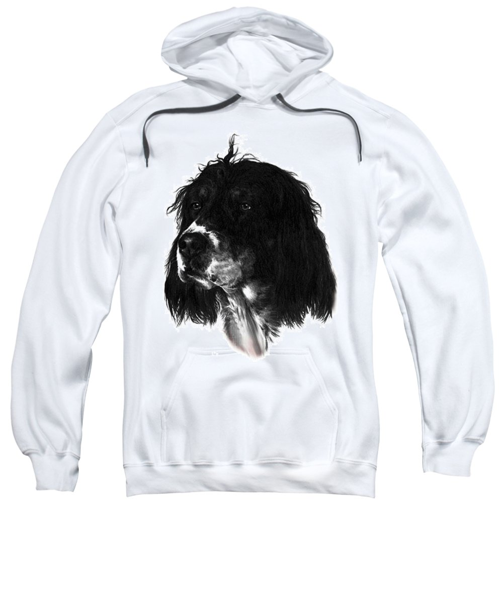 Portrait Sweatshirt featuring the drawing Sadie by Rachel Christine Nowicki