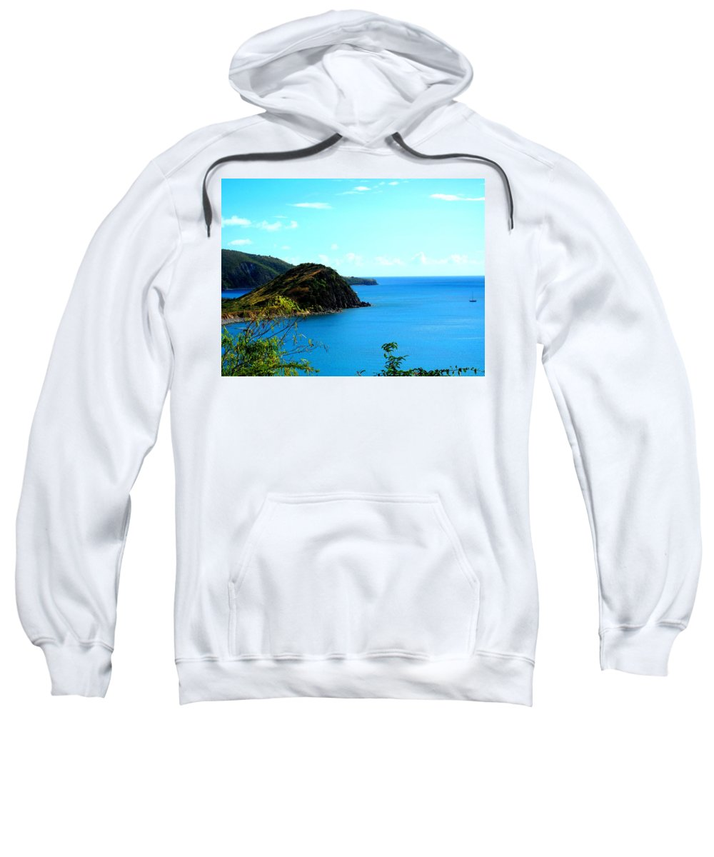 St Kitts Sweatshirt featuring the photograph Safe Harbor by Ian MacDonald