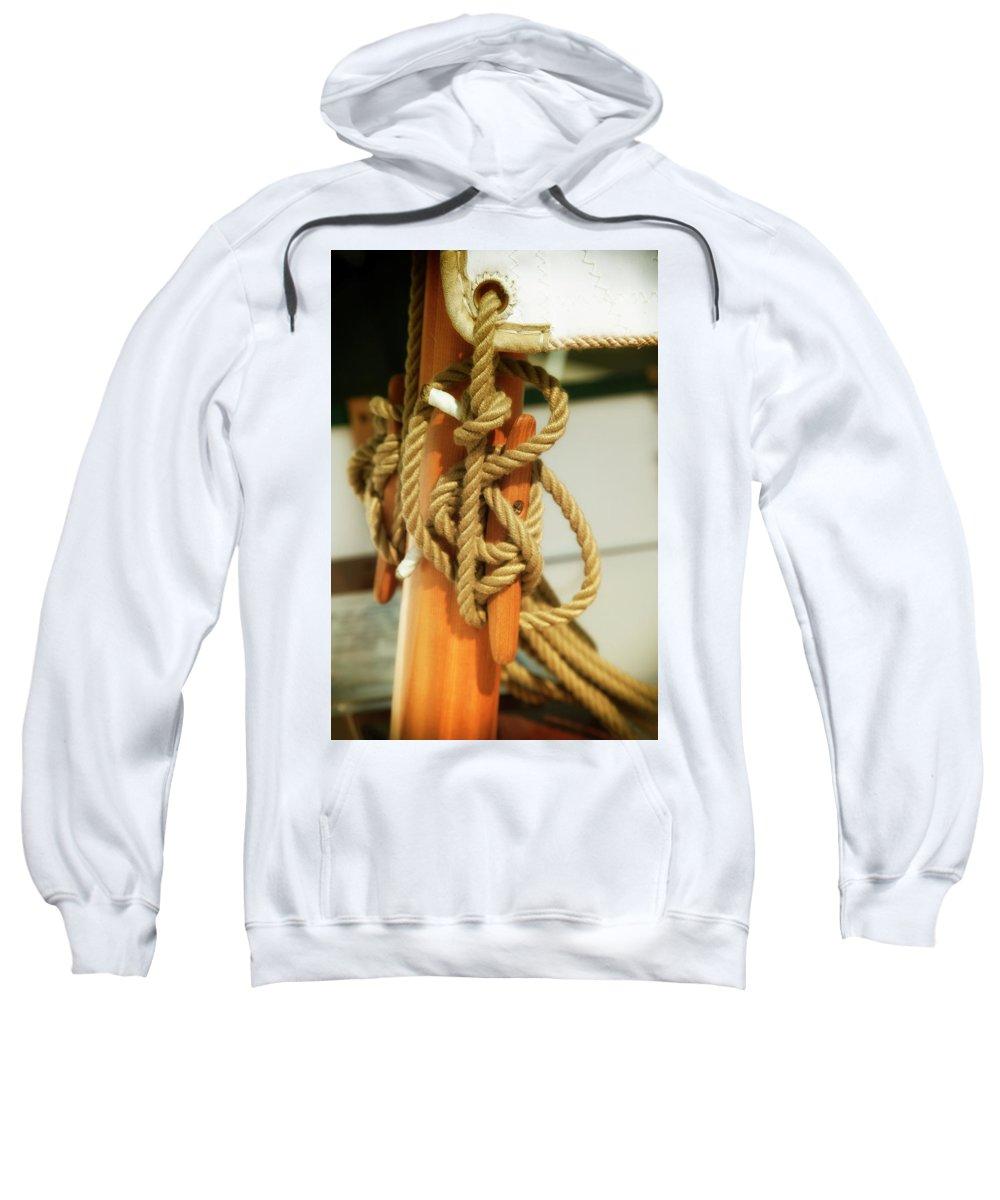 Usa Sweatshirt featuring the photograph Sailing Knot by Savanah Plank