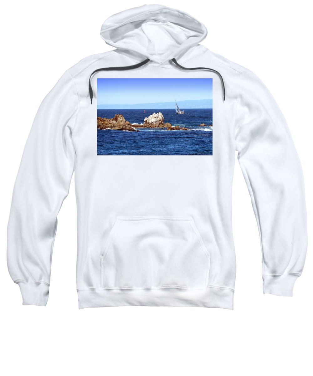 Monterey Sweatshirt featuring the photograph Sailing Monterey Bay by Joyce Dickens