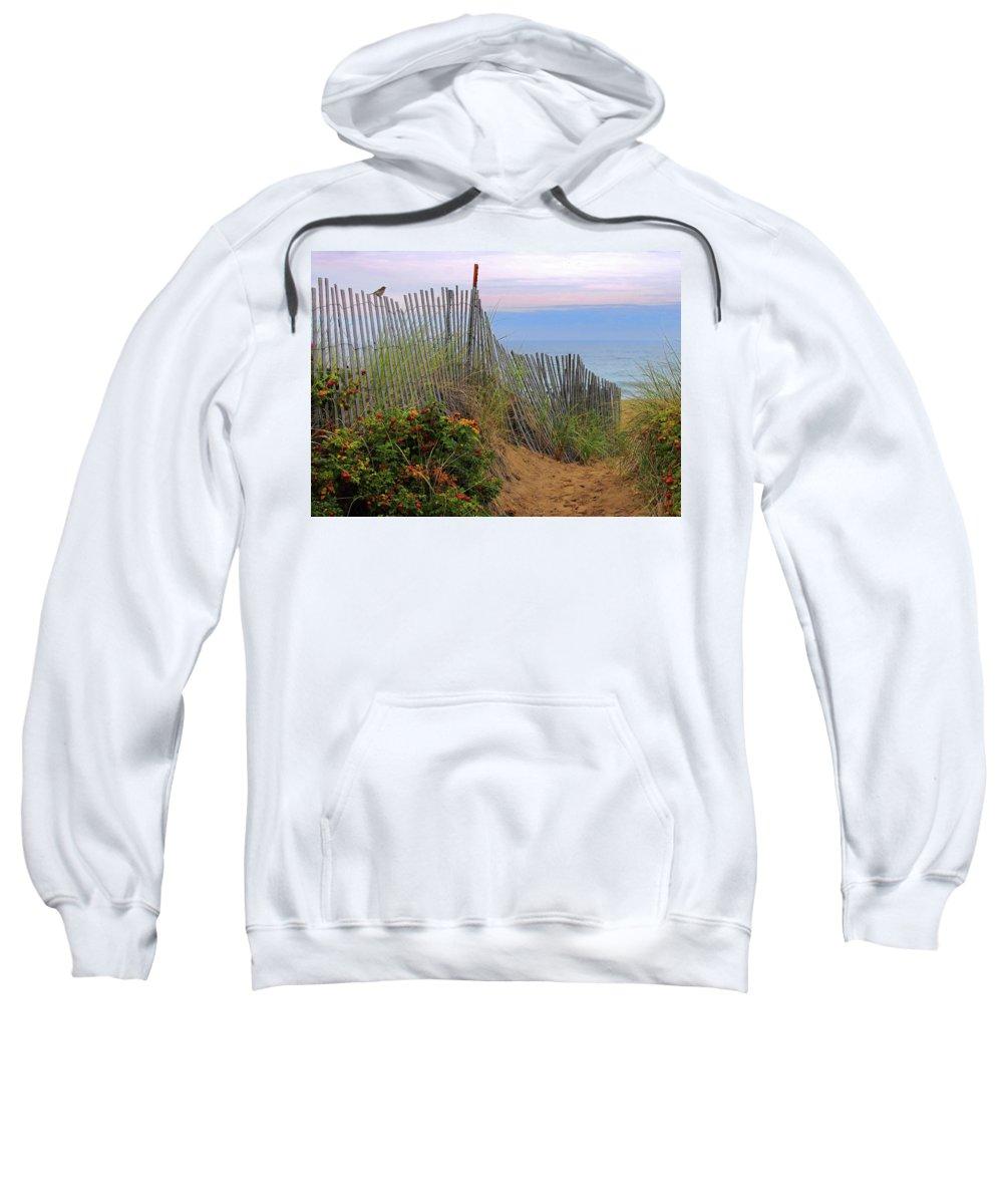 Salisbury Beach Sweatshirt featuring the photograph Salisbury Beach by Jeff Heimlich