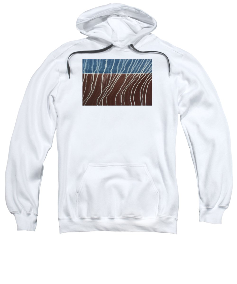 Design Sweatshirt featuring the photograph Saltwater Trails #1 by Mitch Spence
