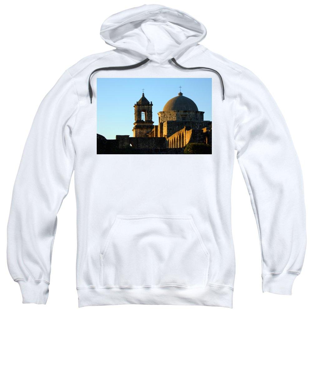 City Sweatshirt featuring the photograph San Antonio Mission by Jill Reger