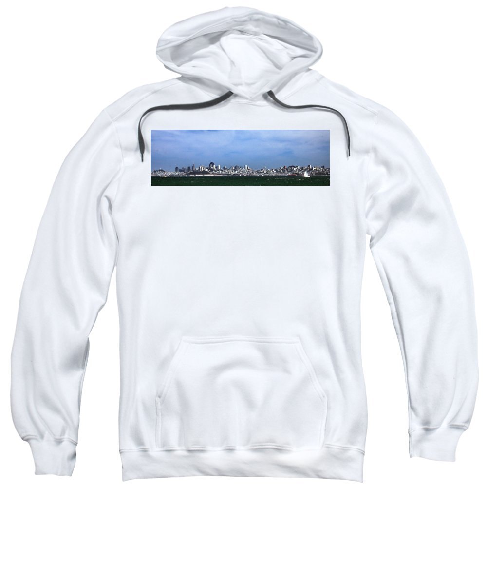 San Francisco Bay Sweatshirt featuring the photograph San Francisco Bay by Michael Gordon