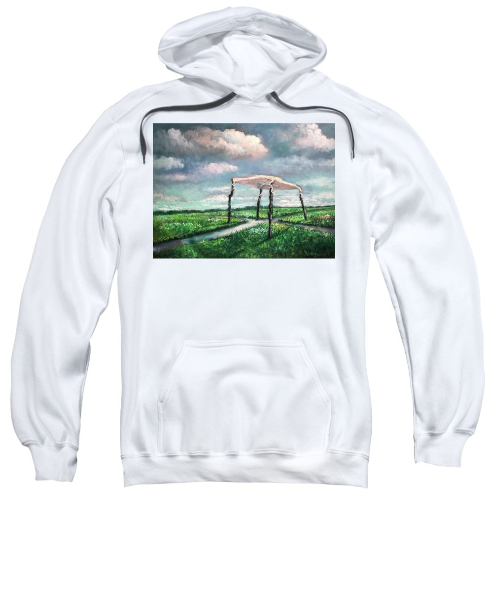 Sanctuary Sweatshirt featuring the painting Sanctuary by Randy Burns