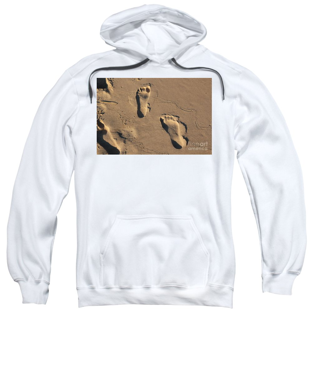 Beach Sweatshirt featuring the photograph Sandy Toes by Lauren Mohr