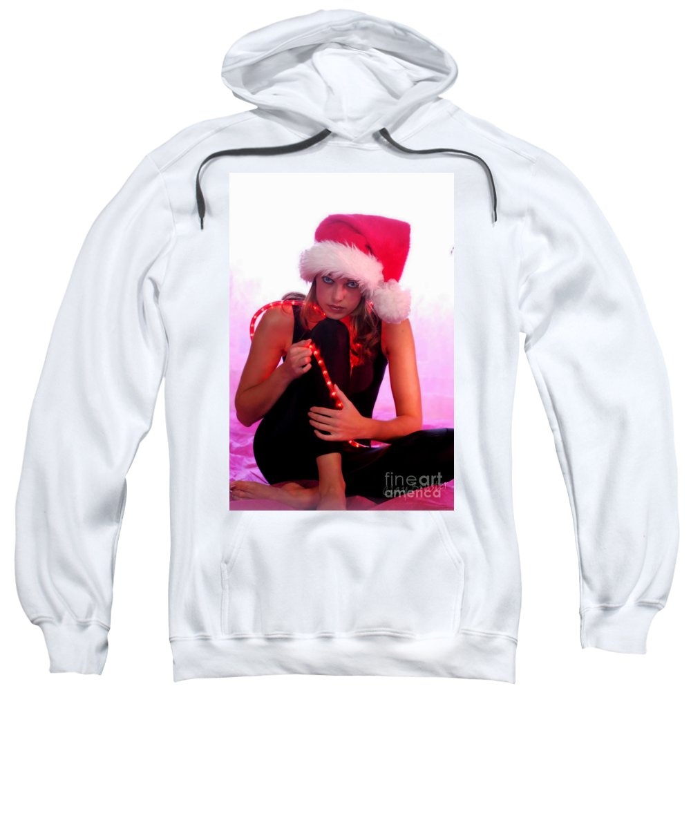Clay Sweatshirt featuring the photograph Santas Helper by Clayton Bruster