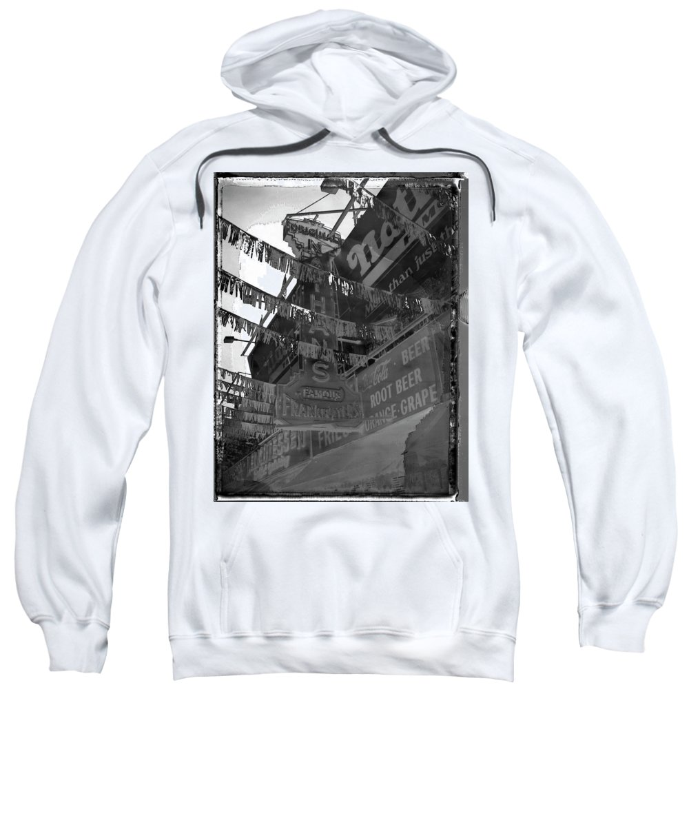 Nathan's Hotdog Sweatshirt featuring the photograph Saturday Afternoon Adventure by Concrete Gallery