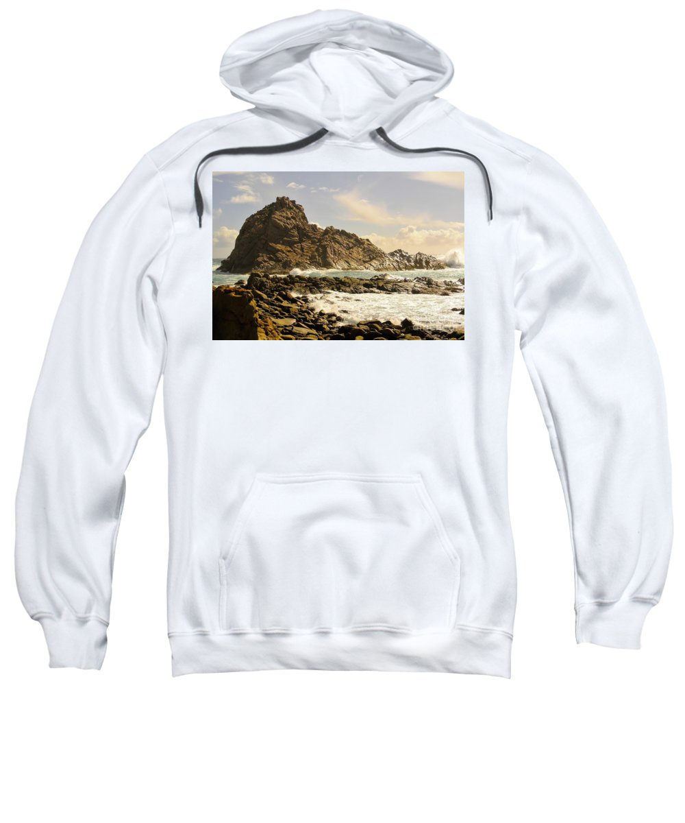 Sugar Loaf Rock Sweatshirt featuring the photograph Savage by Oscar Moreno