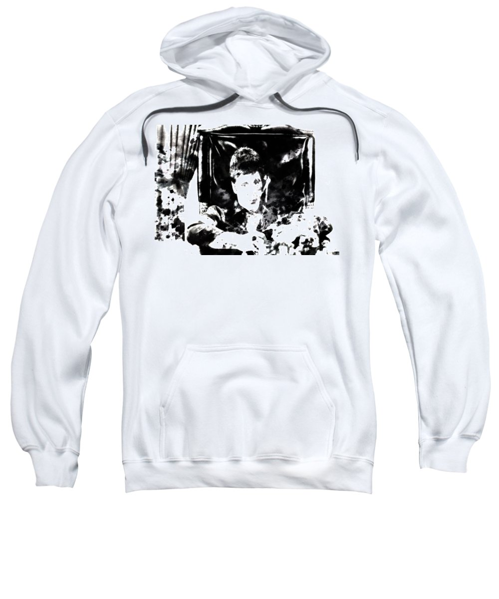 Scarface Sweatshirt featuring the painting Scarface Reflects by Brian Reaves