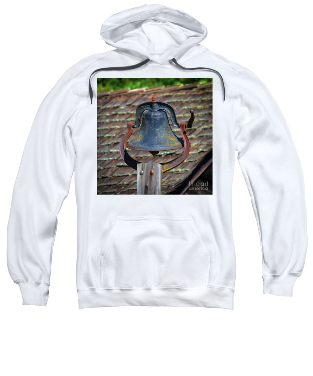 Scenic Tours Sweatshirt featuring the photograph School Bell by Skip Willits