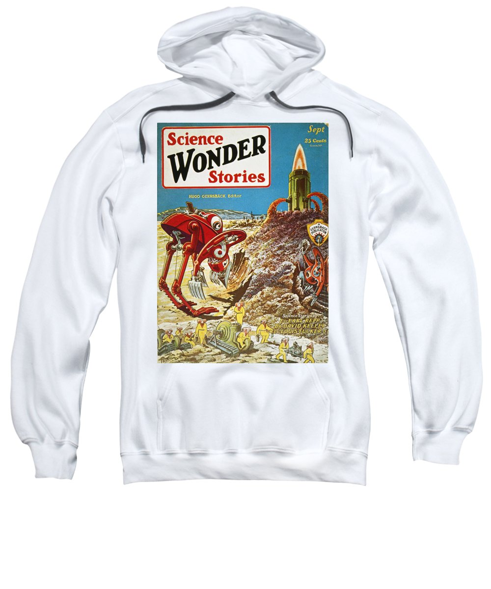 1929 Sweatshirt featuring the photograph Sci-fi Magazine Cover, 1929 by Granger