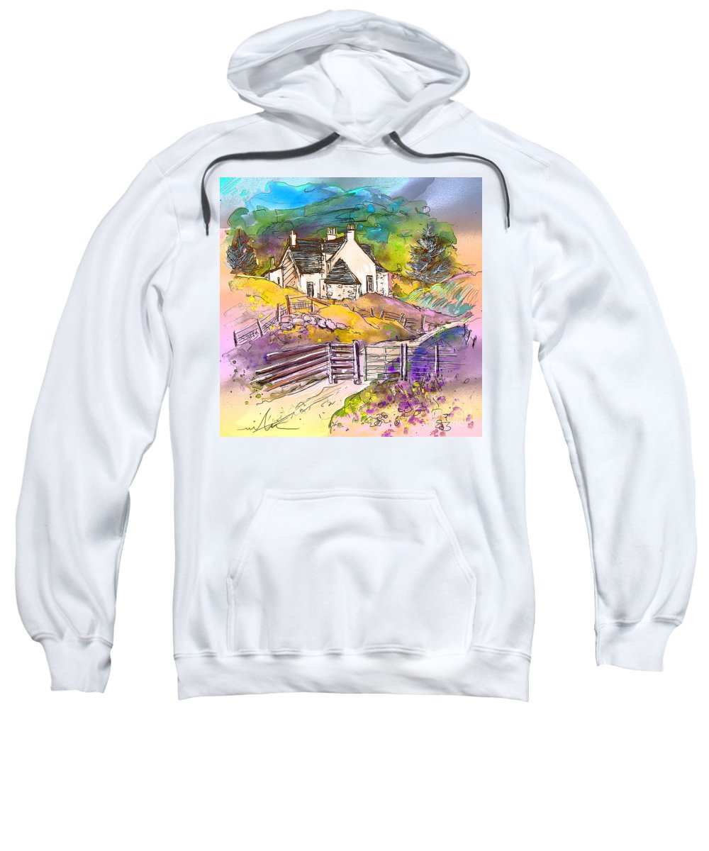 Scotland Paintings Sweatshirt featuring the painting Scotland 16 by Miki De Goodaboom