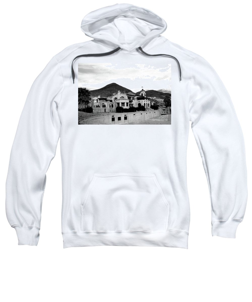 #scotty's Sweatshirt featuring the photograph Scotty's Castle II by Kathleen Struckle