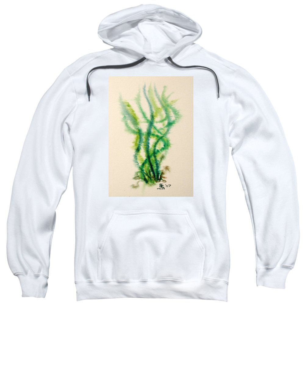 Sea Sweatshirt featuring the painting Sea Bed One by Dave Martsolf