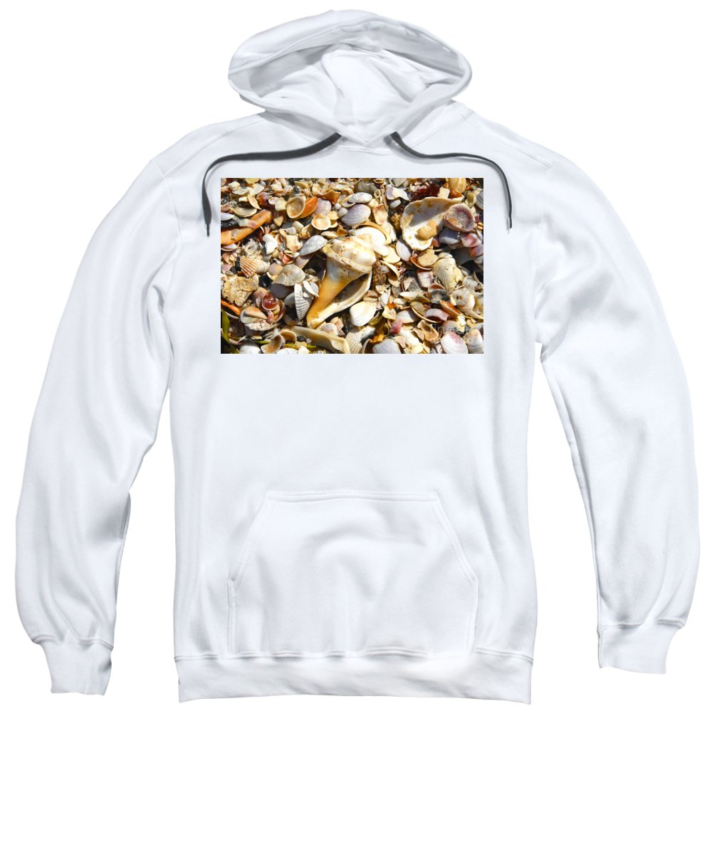 Florida Sweatshirt featuring the photograph Sea Shells by David Lee Thompson
