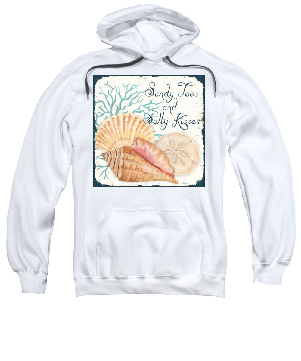 Nautical Sweatshirt featuring the painting Sea Side-jp2731 by Jean Plout