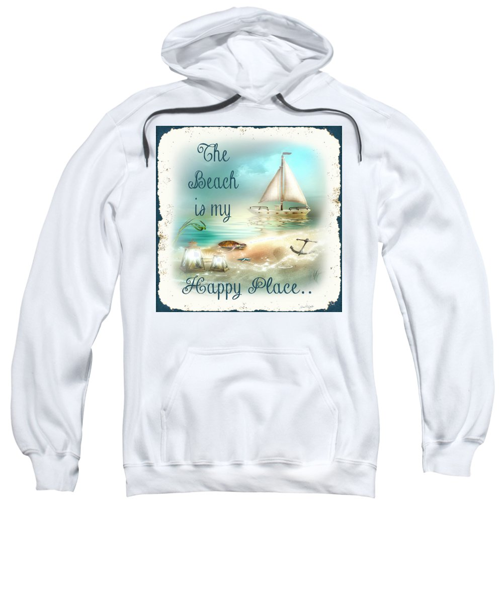 Nautical Sweatshirt featuring the painting Sea Side-jp2734 by Jean Plout
