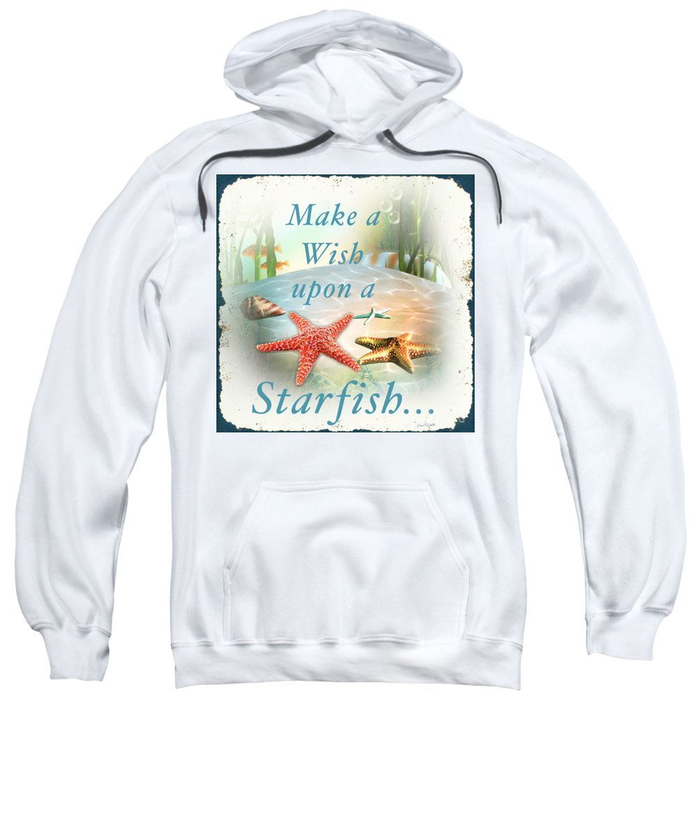 Nautical Sweatshirt featuring the painting Sea Side-jp2735 by Jean Plout