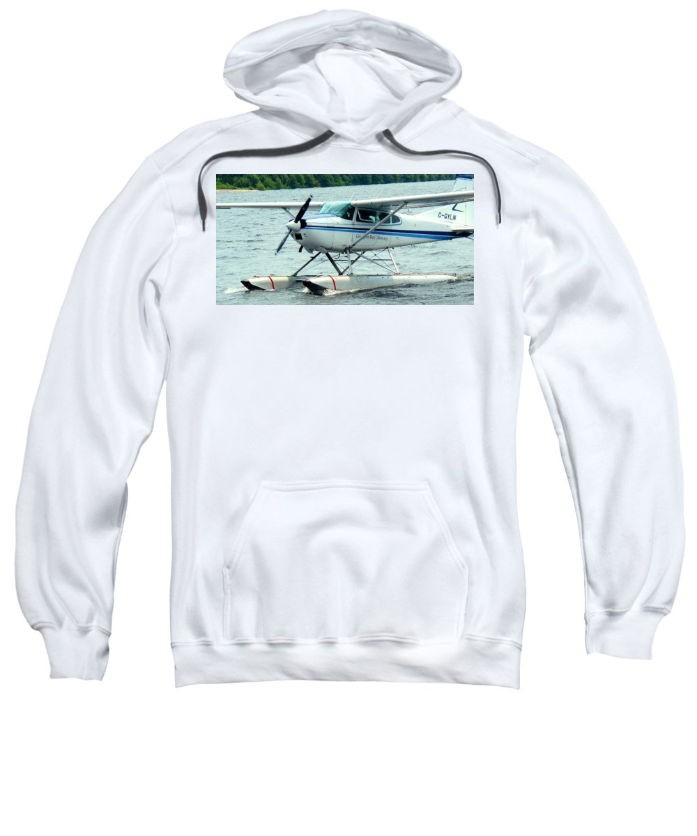 Airplane Sweatshirt featuring the photograph Seaplane by Ian MacDonald