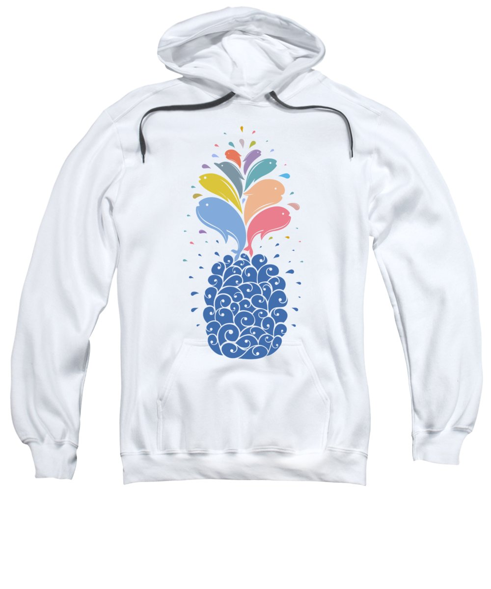 Sea Sweatshirt featuring the digital art Seapple by Mustafa Akgul